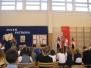 """Redakcja """"Kropki"""", gazetki Szkoły Podstawowej w Lubawie, na uroczystości wręczenia nagród w XIV Wojewódzkim Konkursie Gazetek Szkolnych"""