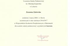 certyfikat Z.Zalewska